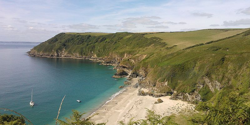 Lantic Bay Cornwall Coast