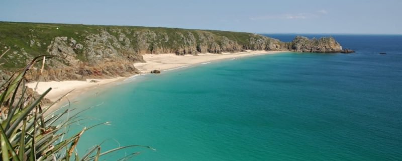 beautiful beach on South West England coast