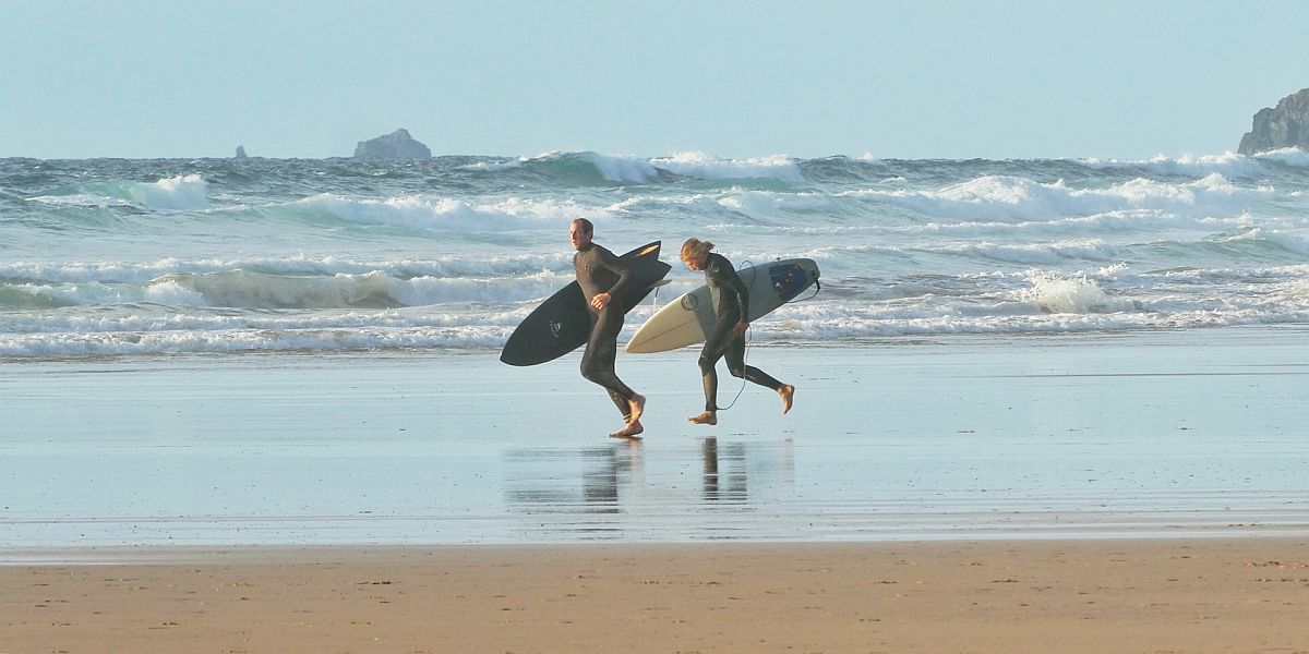 Surfing lessons UK